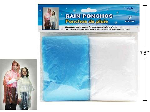 Hooded Poncho 2 Pack