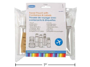 Bodico 7pcs Travel Bottle Kit with pouch
