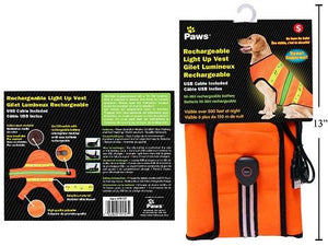 Paws Rechargeable Light Up Safety Vest