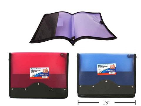 Office Works Zippered File Portfolio