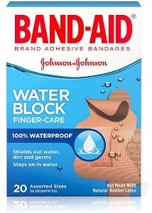 box of band-aids water block bandages