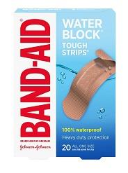 Band-Aid Water Block Tough Strip Bandages