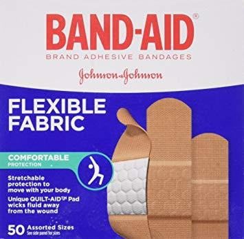 Band Aid Flexible Fabric 50 pack