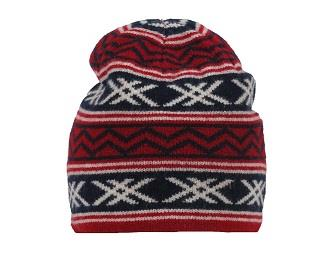 SKHOOP Greta Nordic Design Beanie in Dark Sweet Red
