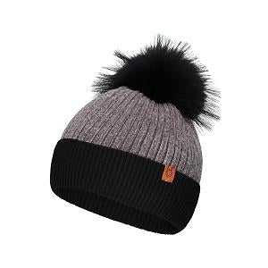 Laska Knit Toque With Fur Pom