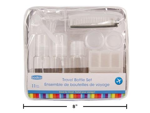 Bodico 11 pcs Travel Bottle Set