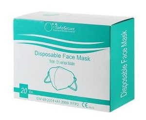 Safe Secure box of disposable KN95 masks.