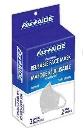 FASTAIDE Reusable Face Mask 2Pk