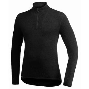 Woolpower Zip Turtleneck 200 warmth in Black