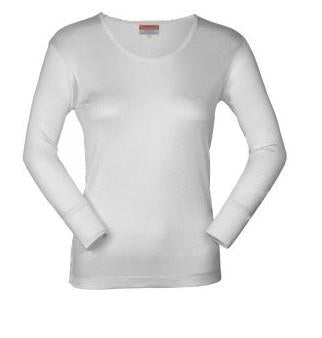 World Famous, silk thermal top, cream. Ladies.