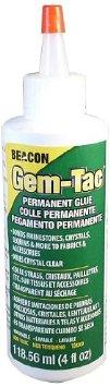 "4 oz bottle Beacon, ""Gem Tac"" glue."
