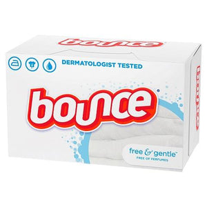 Bounce Free&Clear 34 sheet box.