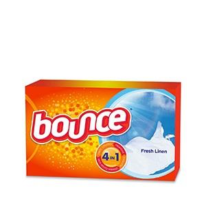 Bounce Fresh-linen, 4-in-1 Dryer Sheets. 34 Box.