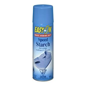 567g spray can, Easy on speed starch.