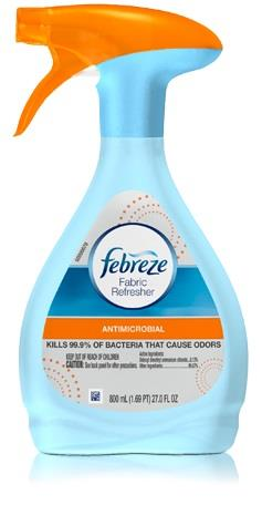 800 ml bottle Febreze fabric refresher.