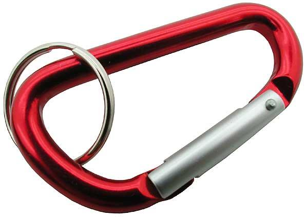 Keychain carabiner, various colours. Single
