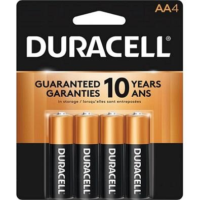 Pack of 4 Duracell AA Batteries