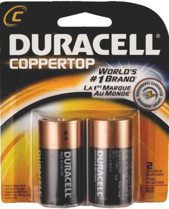 "Duracell batteries ""C"", 2 pack"