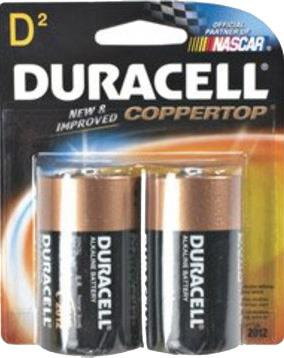 "Duracell batteries ""D"". 2 pack"
