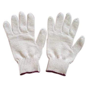 Cotton knit gloves, small, 1 pair.