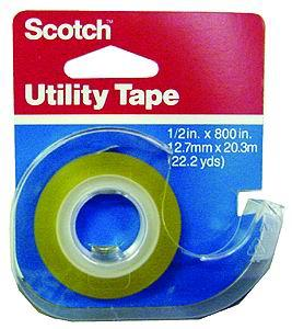 Scotch tape w/dispenser, 12.7mm x 20.3m