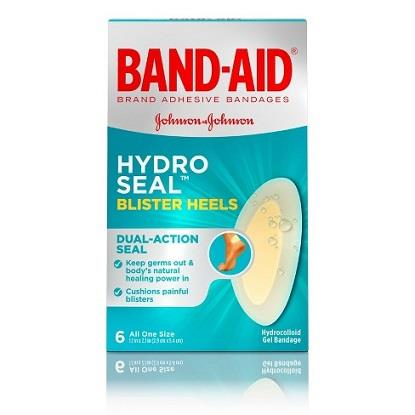 6 PACK BOX OF HYDRO SEAL BLISTER BAND AIDS