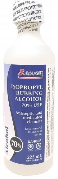 Roughier isopropyl alcohol, 225 ml, 70%