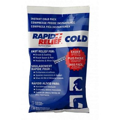 "Rapid Aid compress cold/hot, 24 Box, 4"" x 6"", reuseable gel pack"