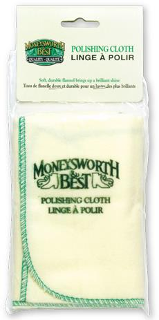 "Moneysworth & Best polishing cloth, 17.5"" x 17"", yellow"