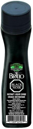 M&B instant shoe shine liquid, 90 ml/3.2 fl.oz. Black.