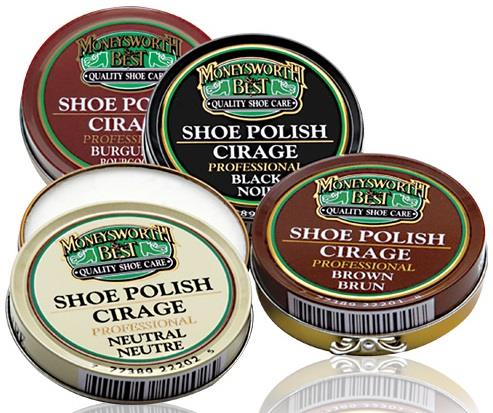 Moneysworth and Best Professional Shoe Polish -  Various colours