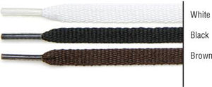 "TexStyle shoe laces, 27"", flat, black, 2 pairs"