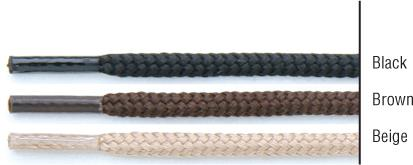 "TexStyle shoe laces, 27"", round, black, 2 pairs"