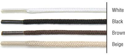 "TexStyle shoe laces, 27"", round, brown, 2 pairs"