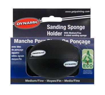 Dynamic sanding sponge/block holder,1 med/fine grit sponge included