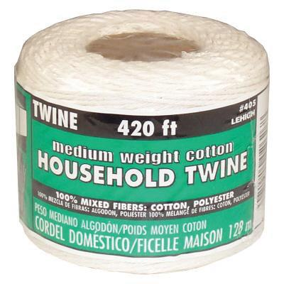 Lehigh twine roll, 420 ft. medium weight, cotton/poly