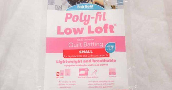 "Fairfield, Low Loft Quilt Batting, Small, 45""x60"", (114.3 cm x 152.4 cm)"