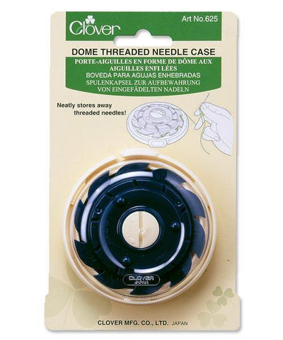 Clover threaded needle storage, dome case.