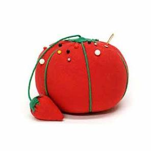 Unique, Tomato Pin Cushion, Strawberry Emery