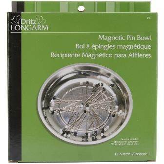 Dritz pin holder, magnetic metal bowl.