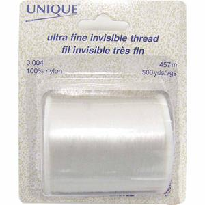 Unique, Invisible Thread, nylon, 500 yds