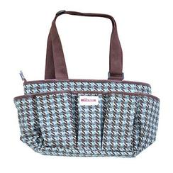 Vivace, accessories bag, houndstooth.
