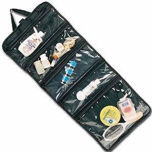 North 49 organizer. 5 large zippered pockets. Folds up w/velcro flap.