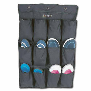 North 49 shoe organizer, black, w/12 shoe pockets.