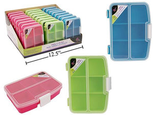 Time 4 Crafts tackle stowaway box. 6 fixed sections. Clear plastic.