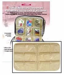 Vivace crafter's tote insert. Beige/clear plastic.