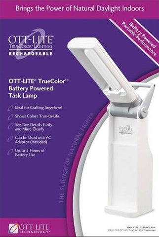 Ott-Lite task lamp. True colour. Rechargeable.