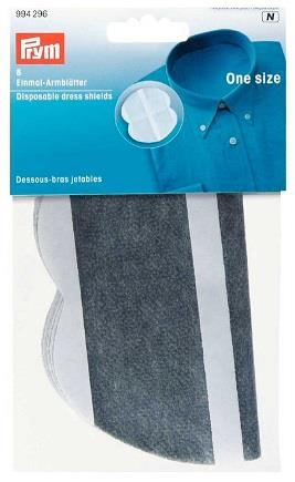 Prym dress shields. Adhesive. Grey. 4 pairs.