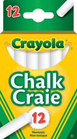 Crayola chalk. 12 pack. White.