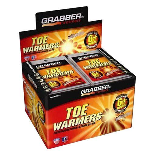 Grabber warmers, toe. 40 pair box.
